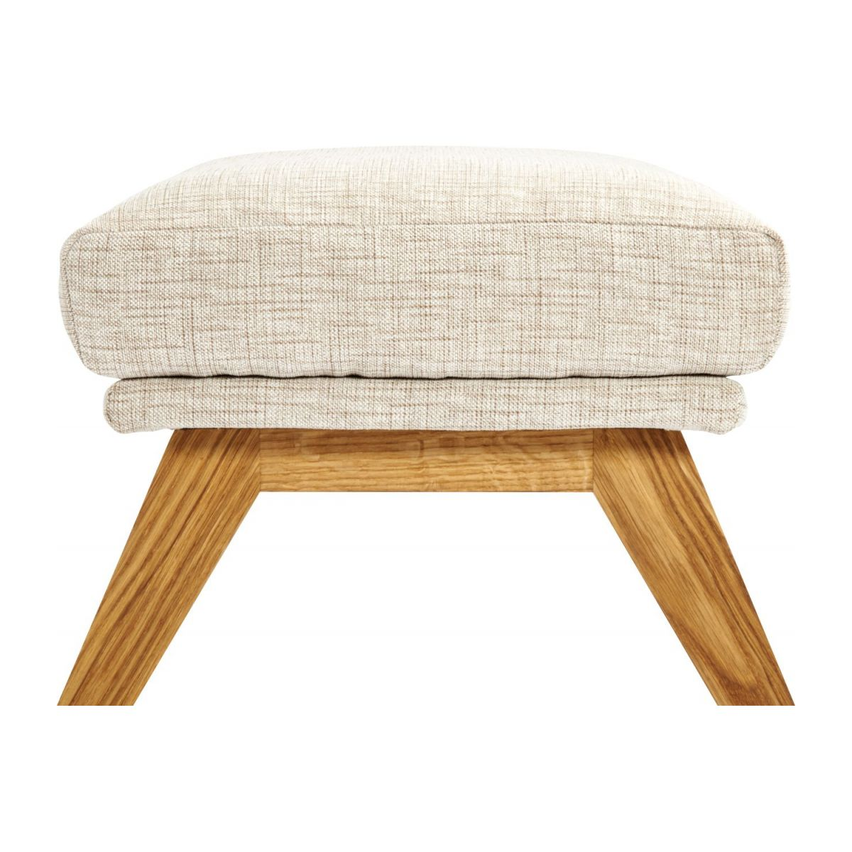 Footstool in Ancio fabric, nature with oak legs n°5