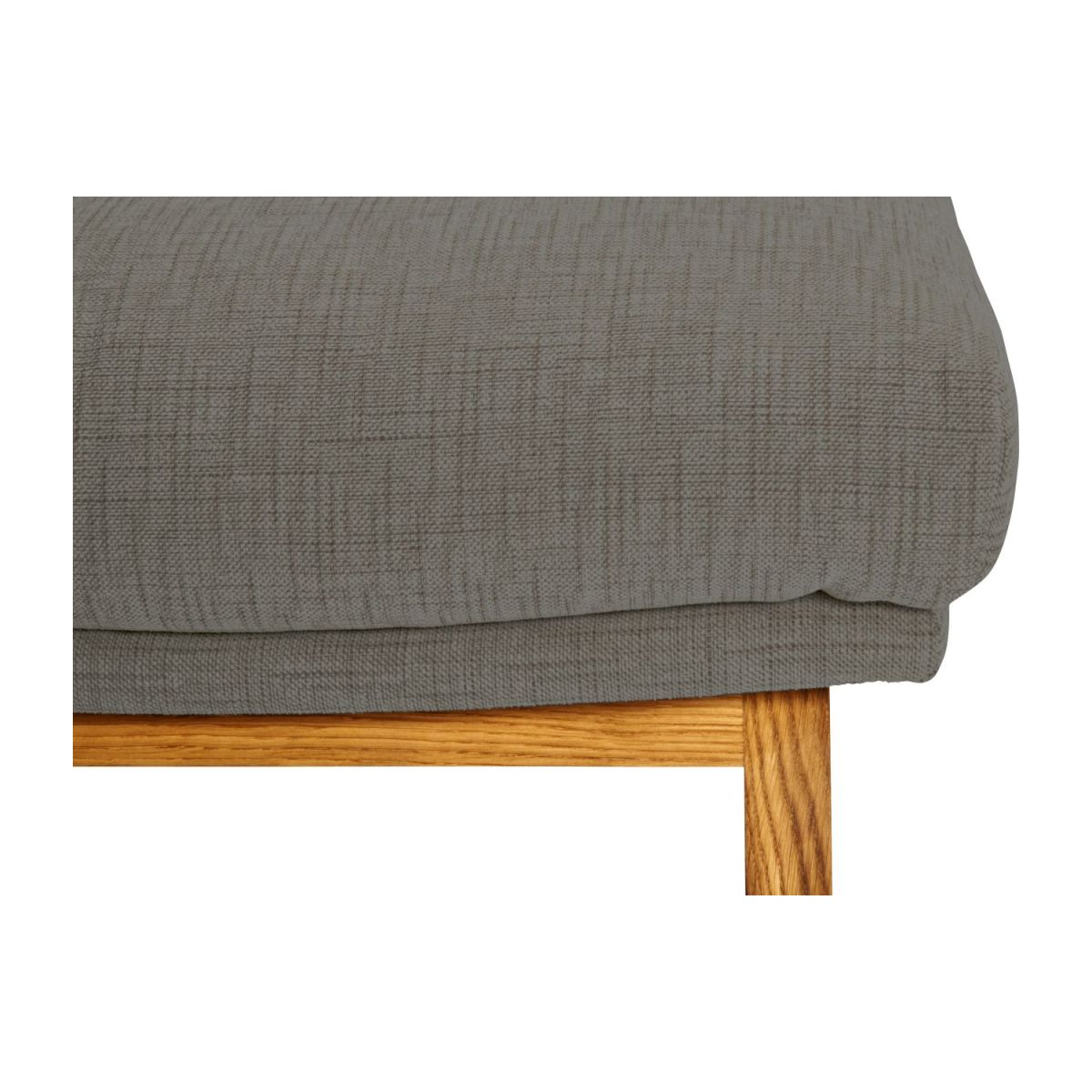 Footstool in Ancio fabric, river rock with oak legs n°6