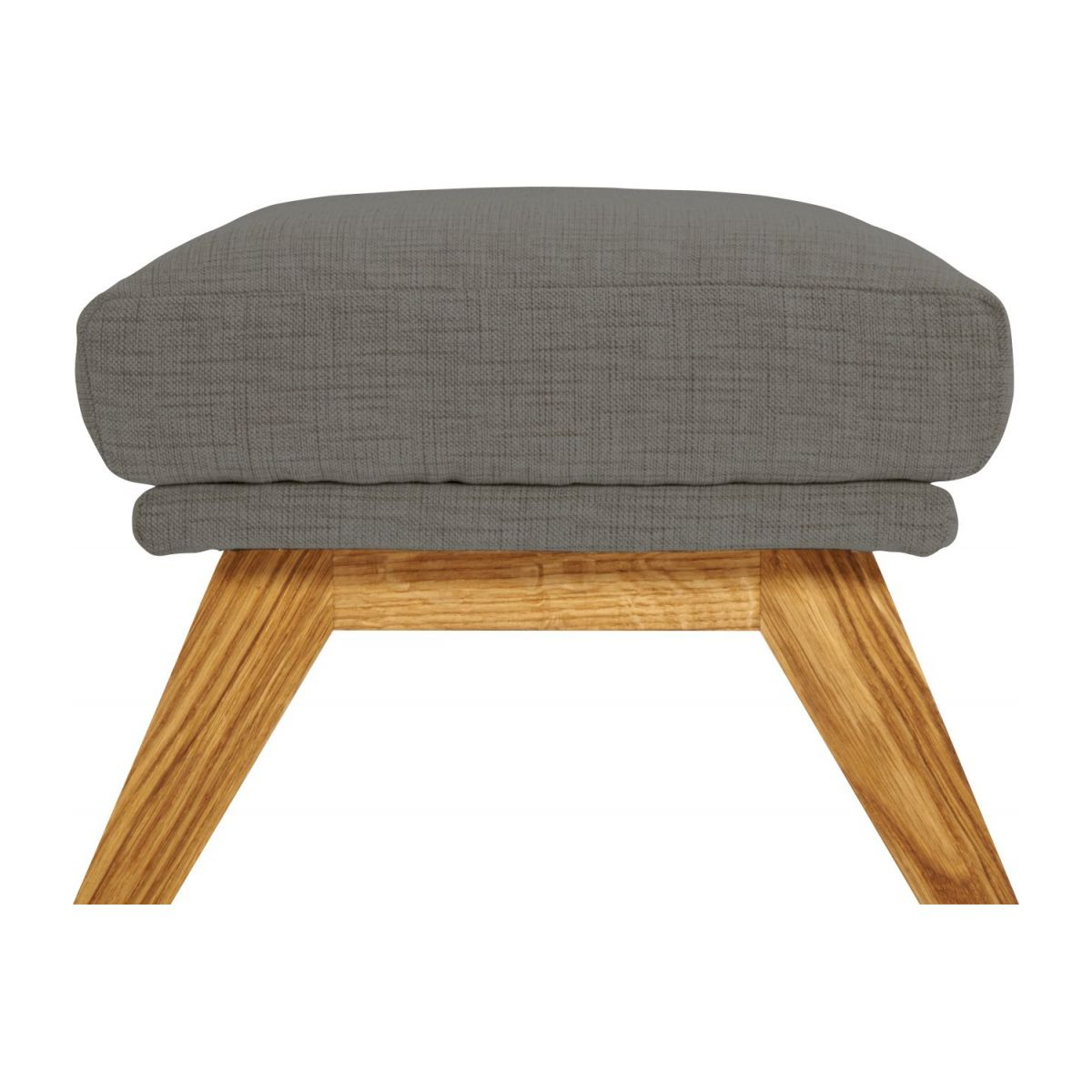 Footstool in Ancio fabric, river rock with oak legs n°5