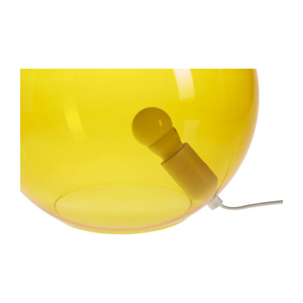 Lamp made of glass 30cm, yellow n°4