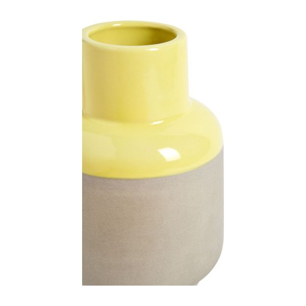 Vase made of earthenware 14cm, yellow n°3