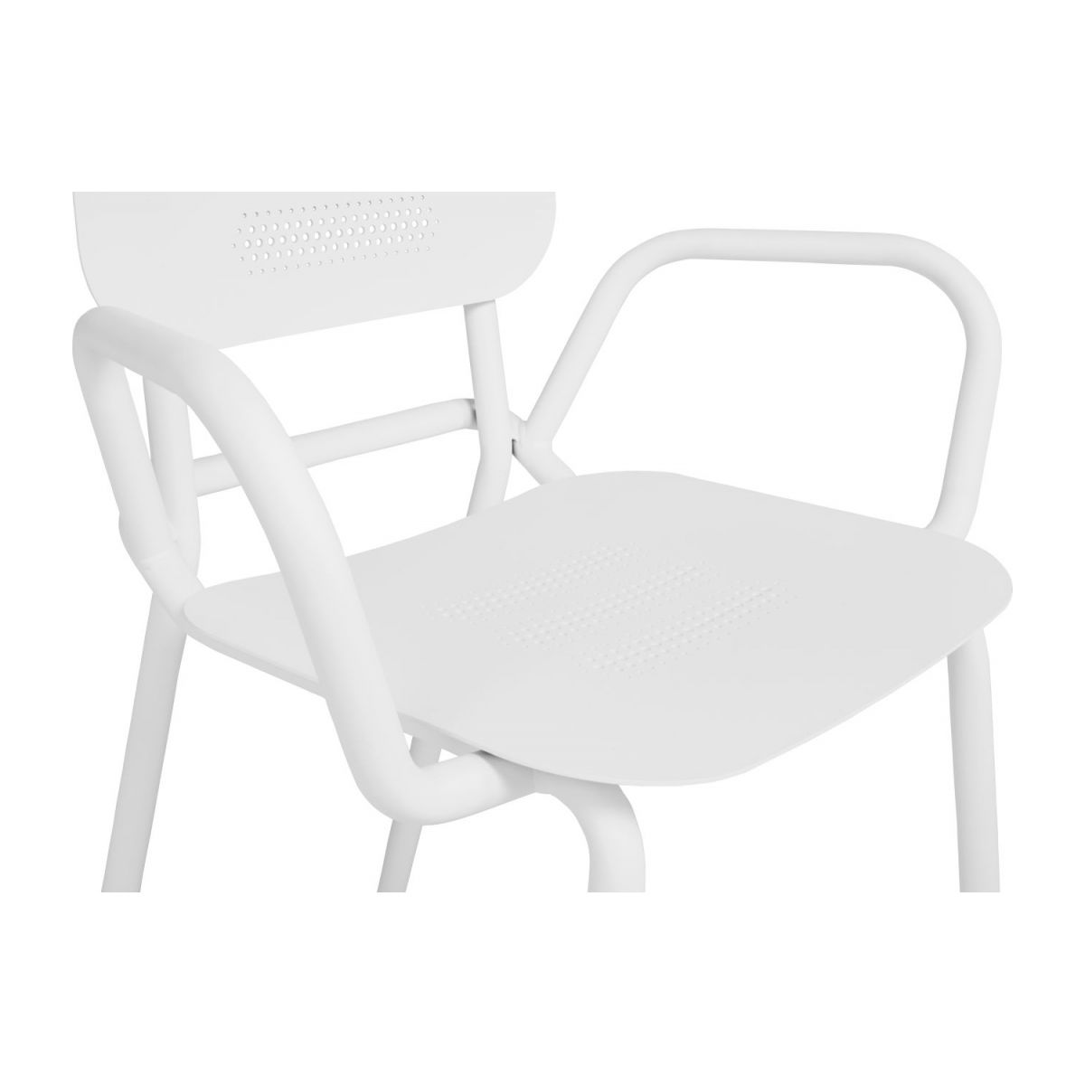 Garden chair with armrests n°7