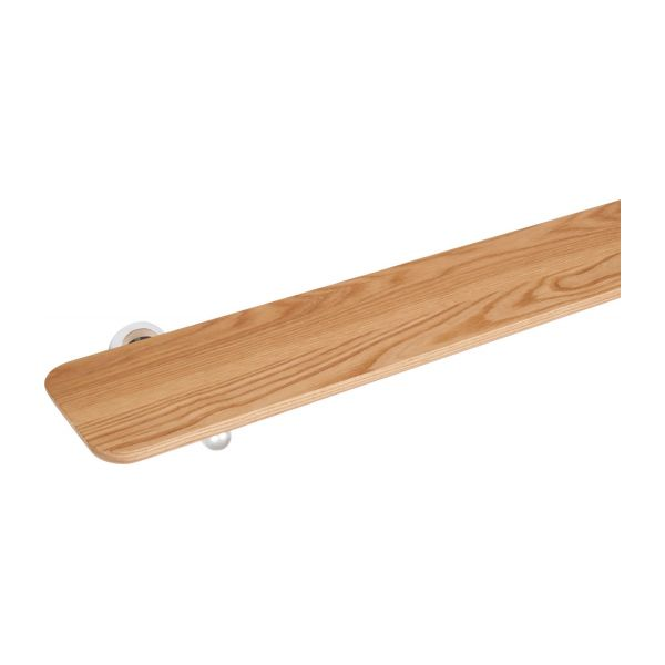 Shelf 50cm made in beechwood and stainless steel n°4