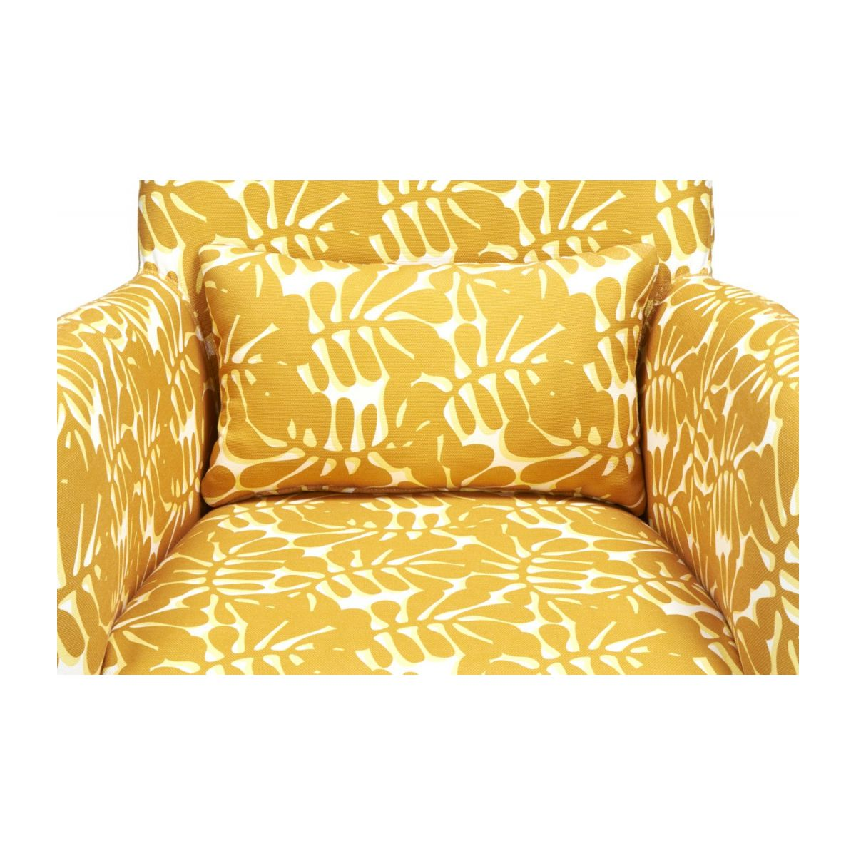 Armchair with yellow patterns n°7