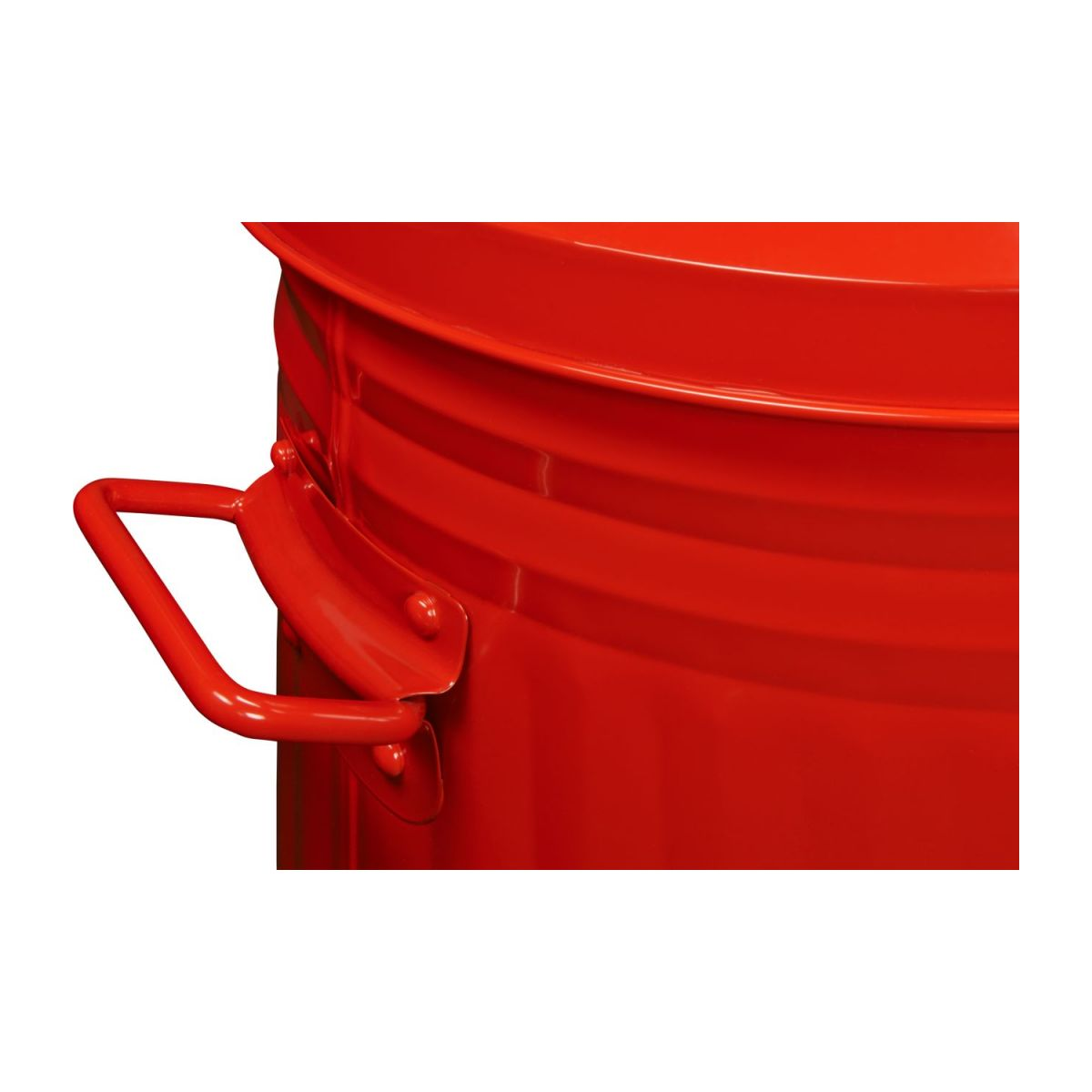Round trash can, red 52L n°7