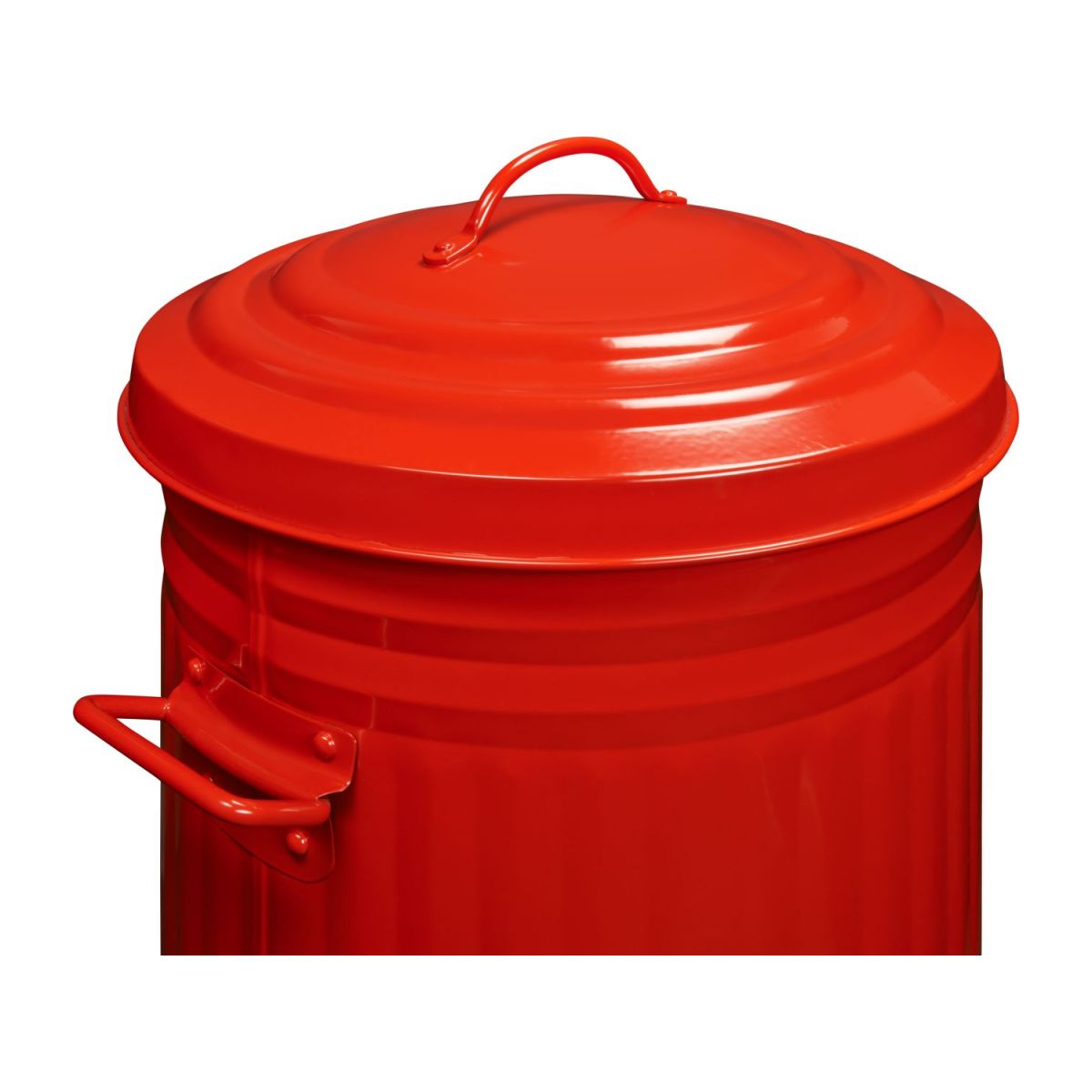 Round trash can, red 52L n°6