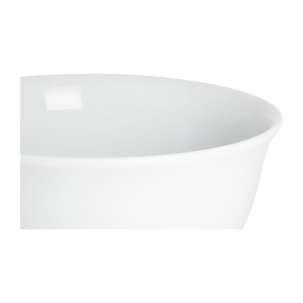 Mixing bowl in porcelain, white 23cm n°2