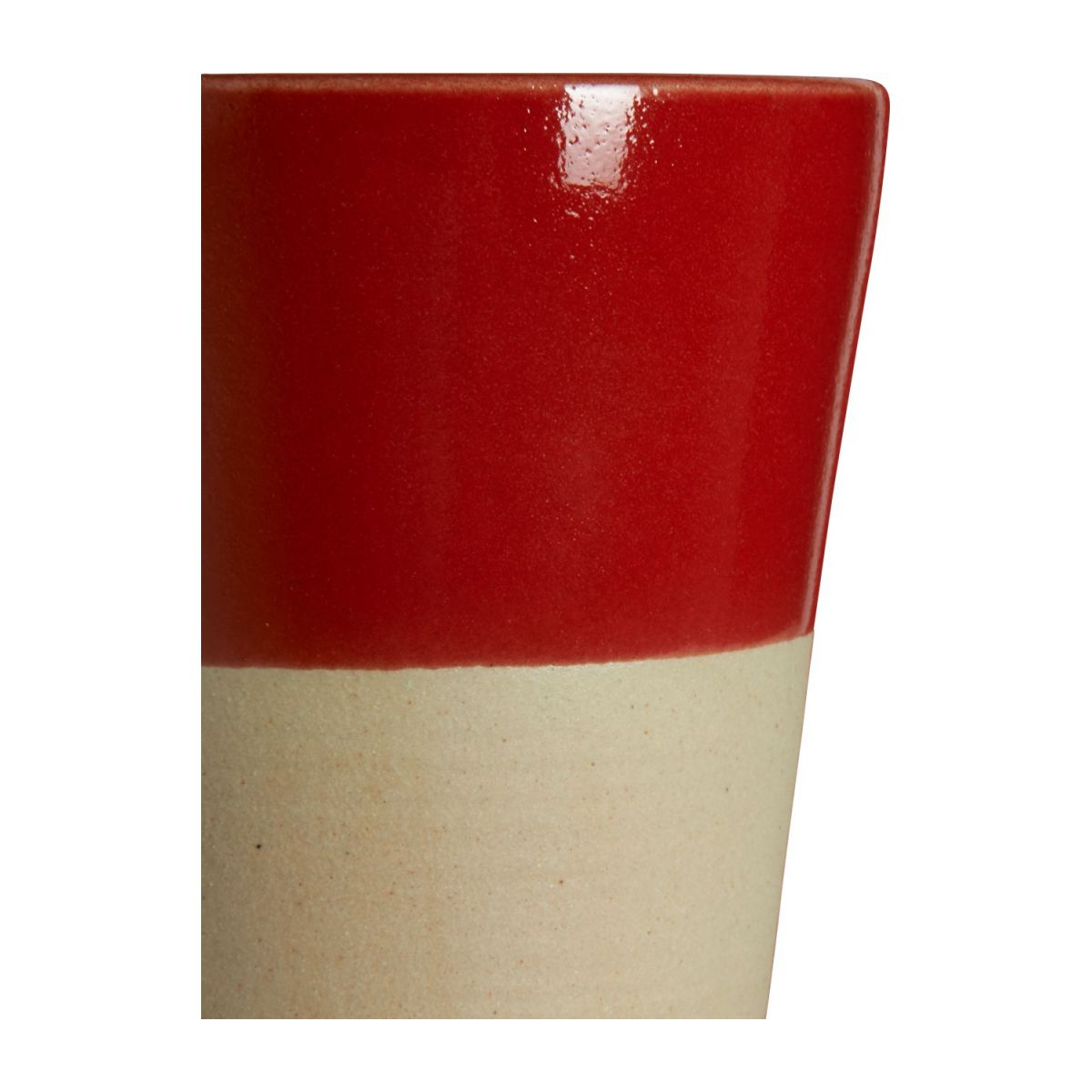 Small tumbler made in sandstone, natural and red n°3