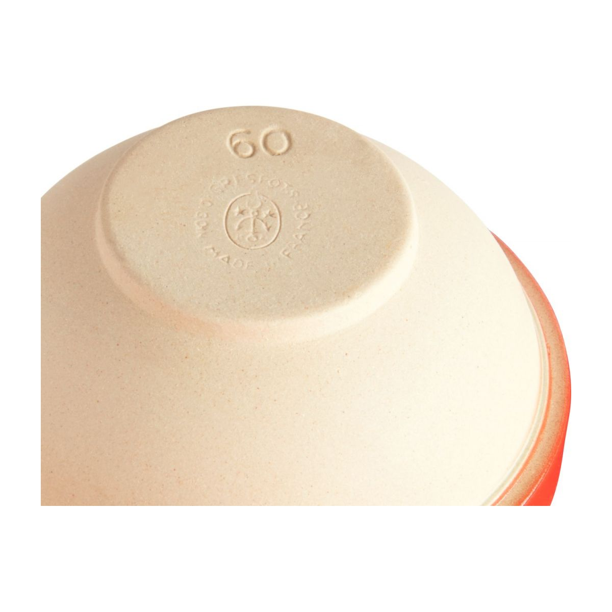 Preparation bowl made in sandstone, natural and red n°4
