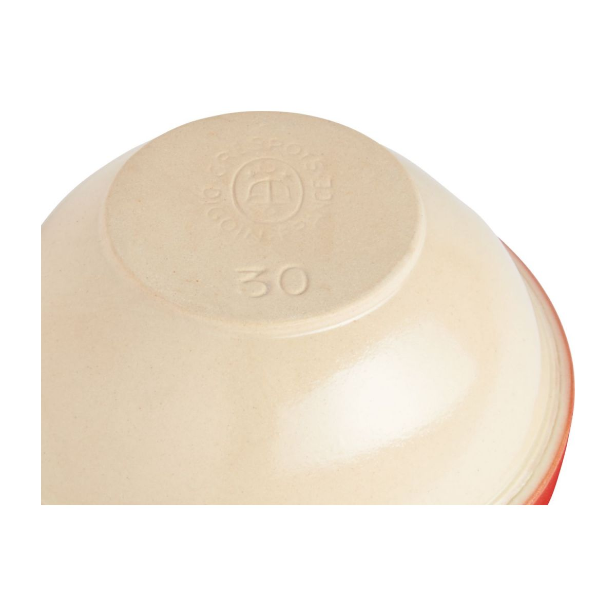 Preparation bowl made of sandstone, red and natural, 2.1L n°4