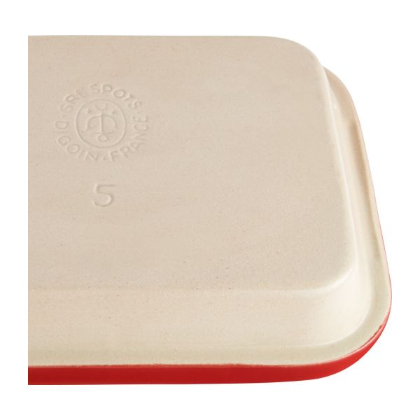 Oven plate made of sandstone, red and naturel, 1.8L n°6
