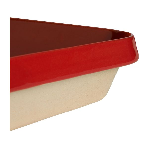Oven plate made of sandstone, red and naturel, 1.8L n°5