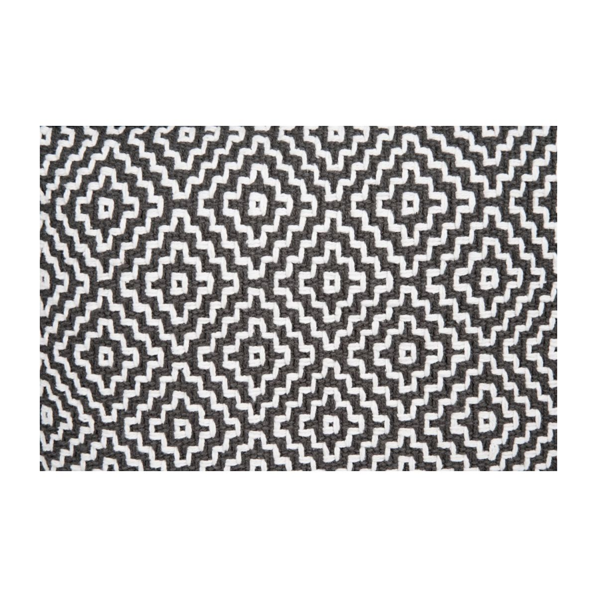 Footstool with black and white patterns n°6