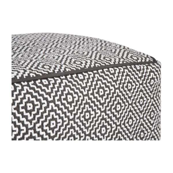 Footstool with black and white patterns n°5