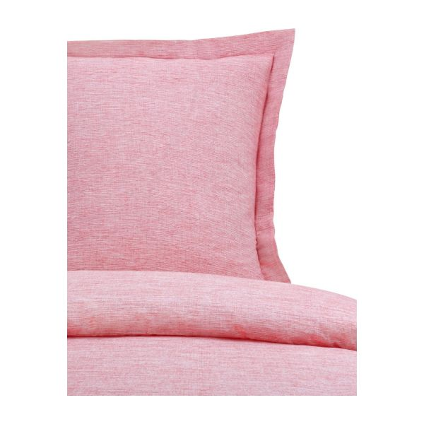 Duvet cover 140x200 made in cotton corail n°4