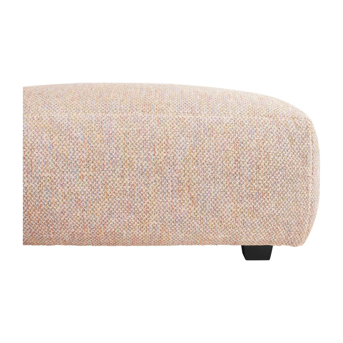 Footstool in Bellagio fabric, passion orange n°5