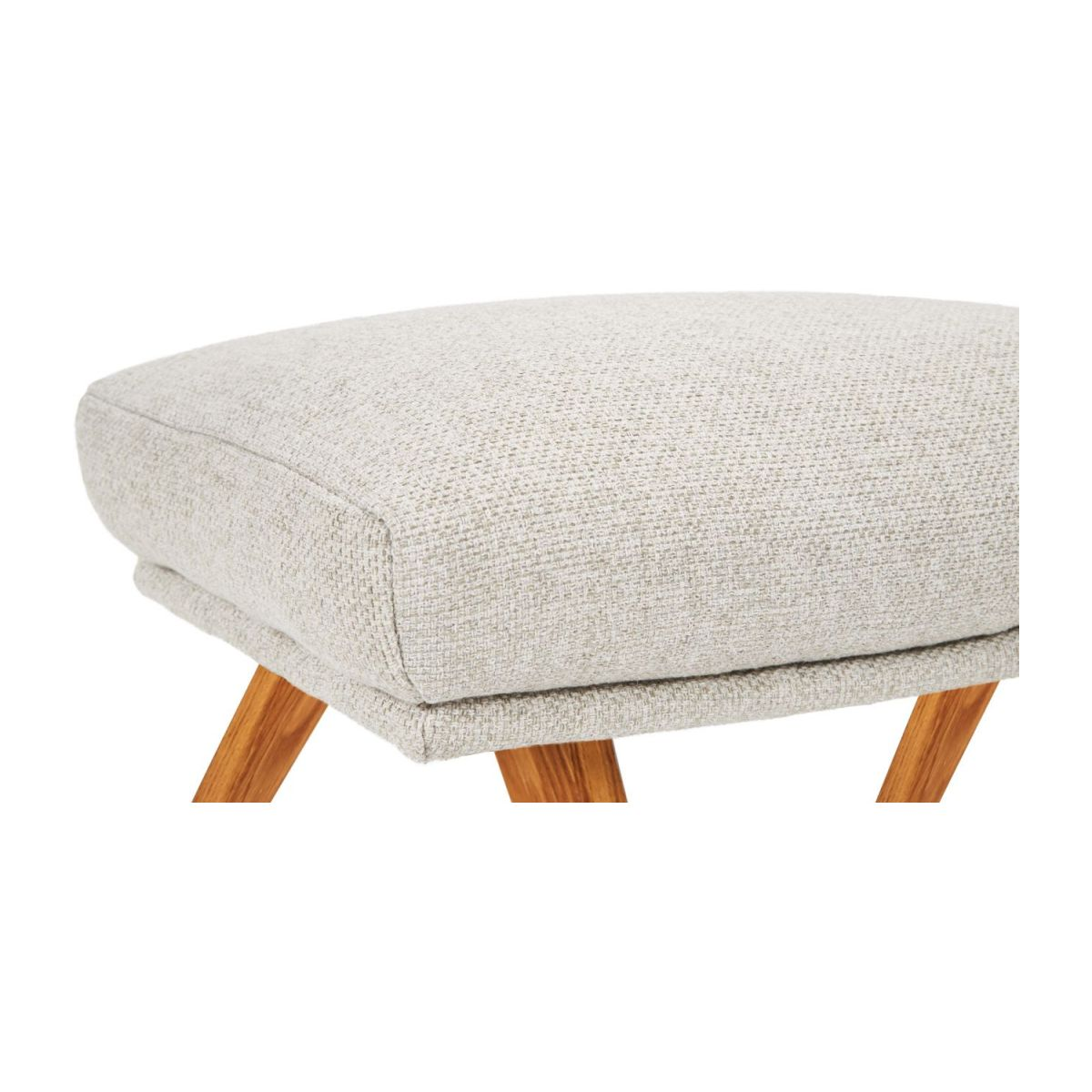 Footstool in Lecce fabric, nature with oak legs n°5