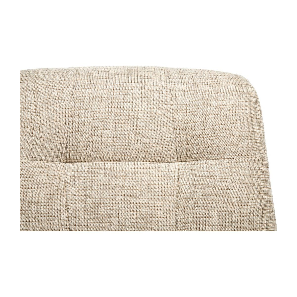 Armchair in Ancio fabric, nature with metal cross leg n°9
