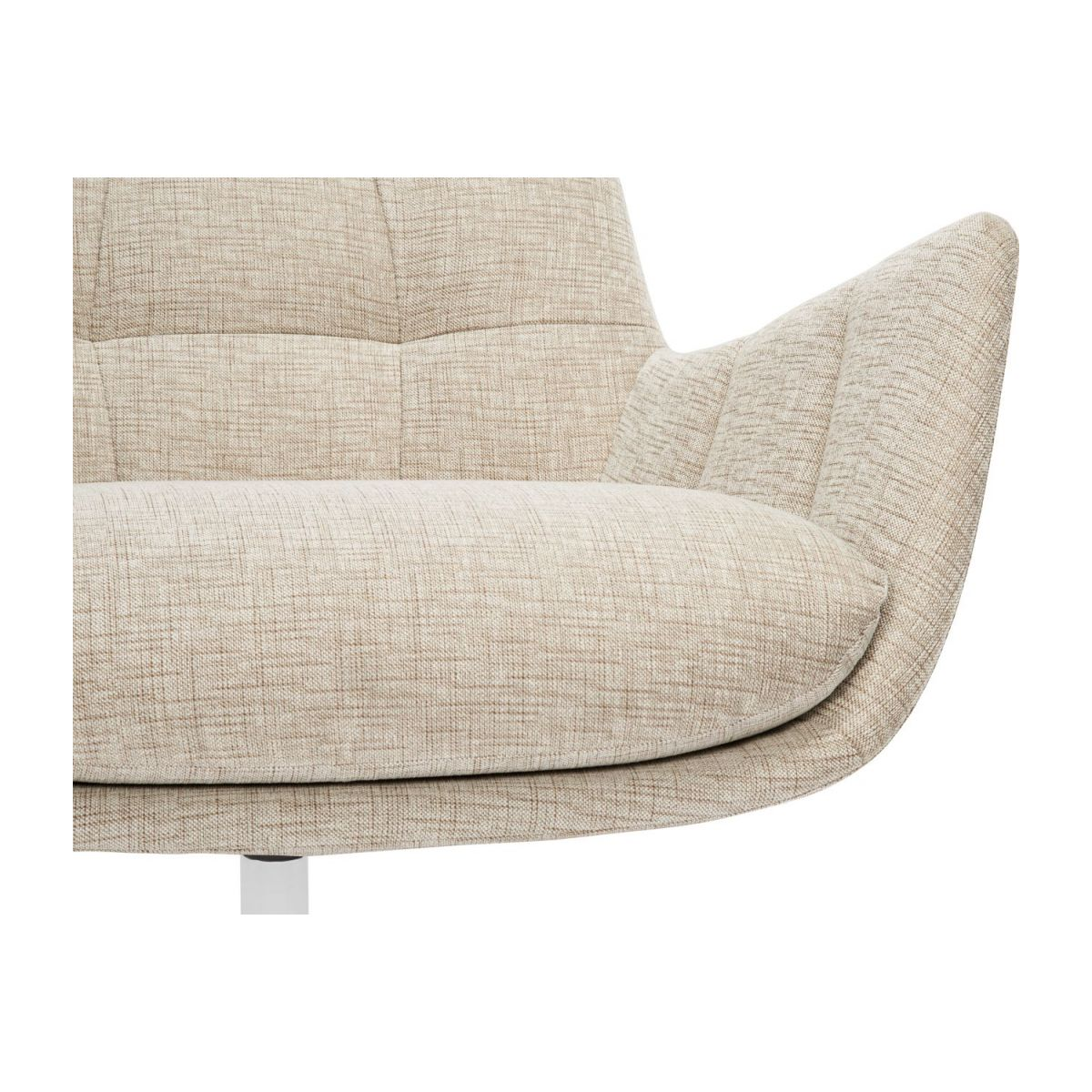 Armchair in Ancio fabric, nature with metal cross leg n°7