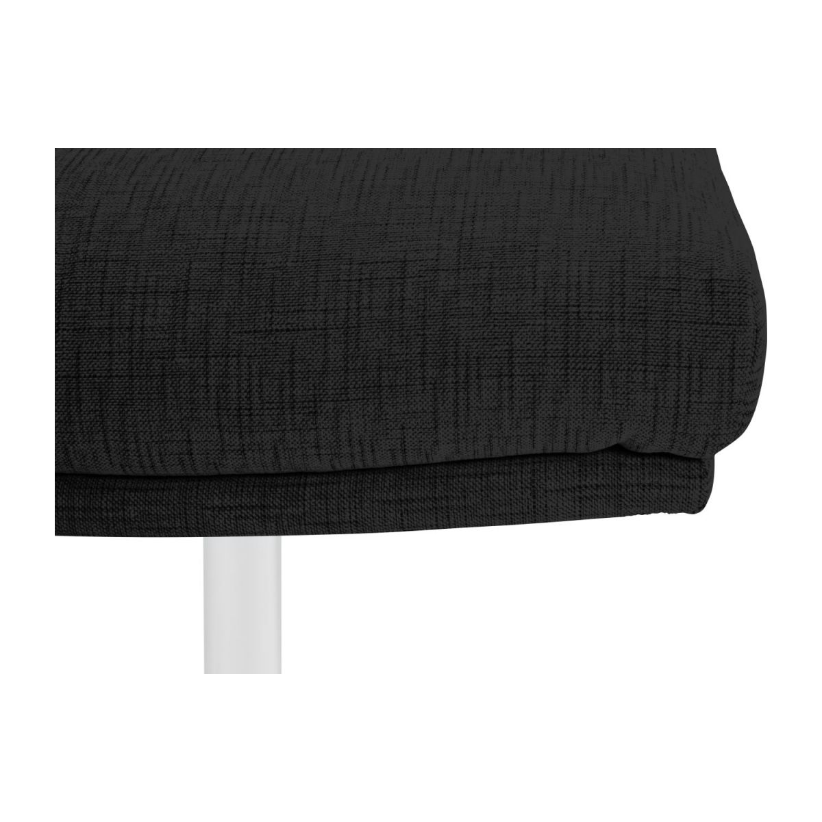 Footstool in Ancio fabric, nero with metal cross leg n°6