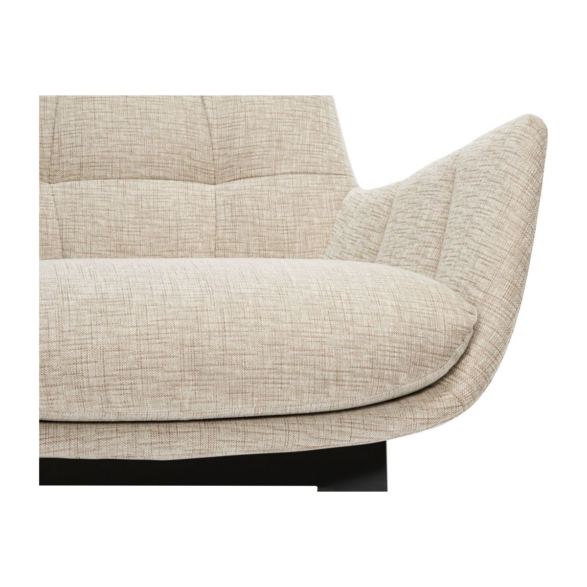 Armchair in Ancio fabric, nature with dark oak legs n°8