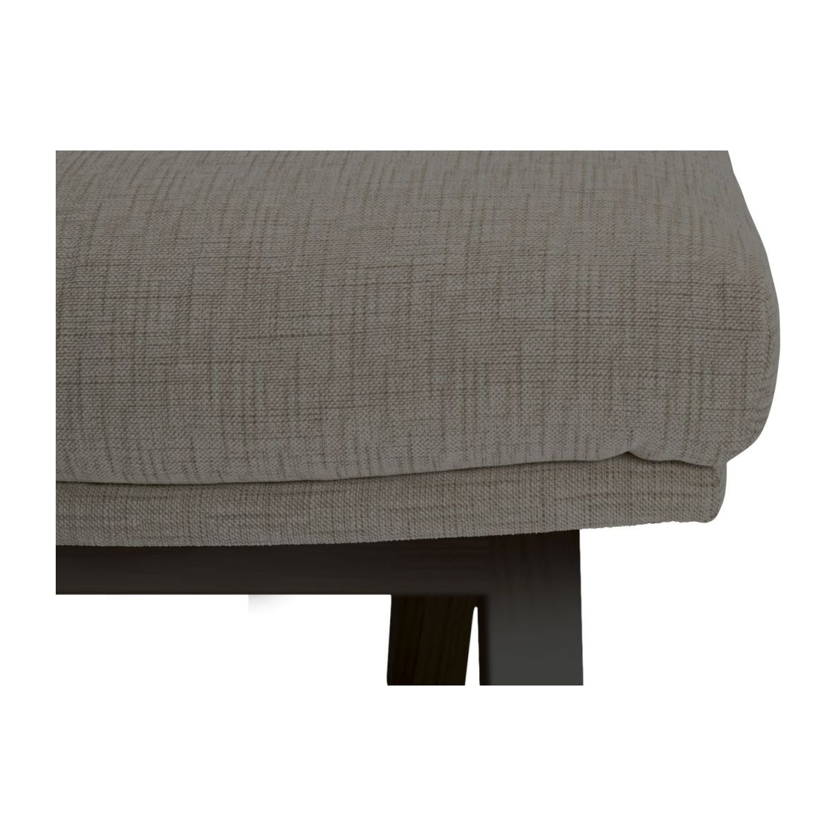 Footstool in Ancio fabric, river rock with dark legs n°6