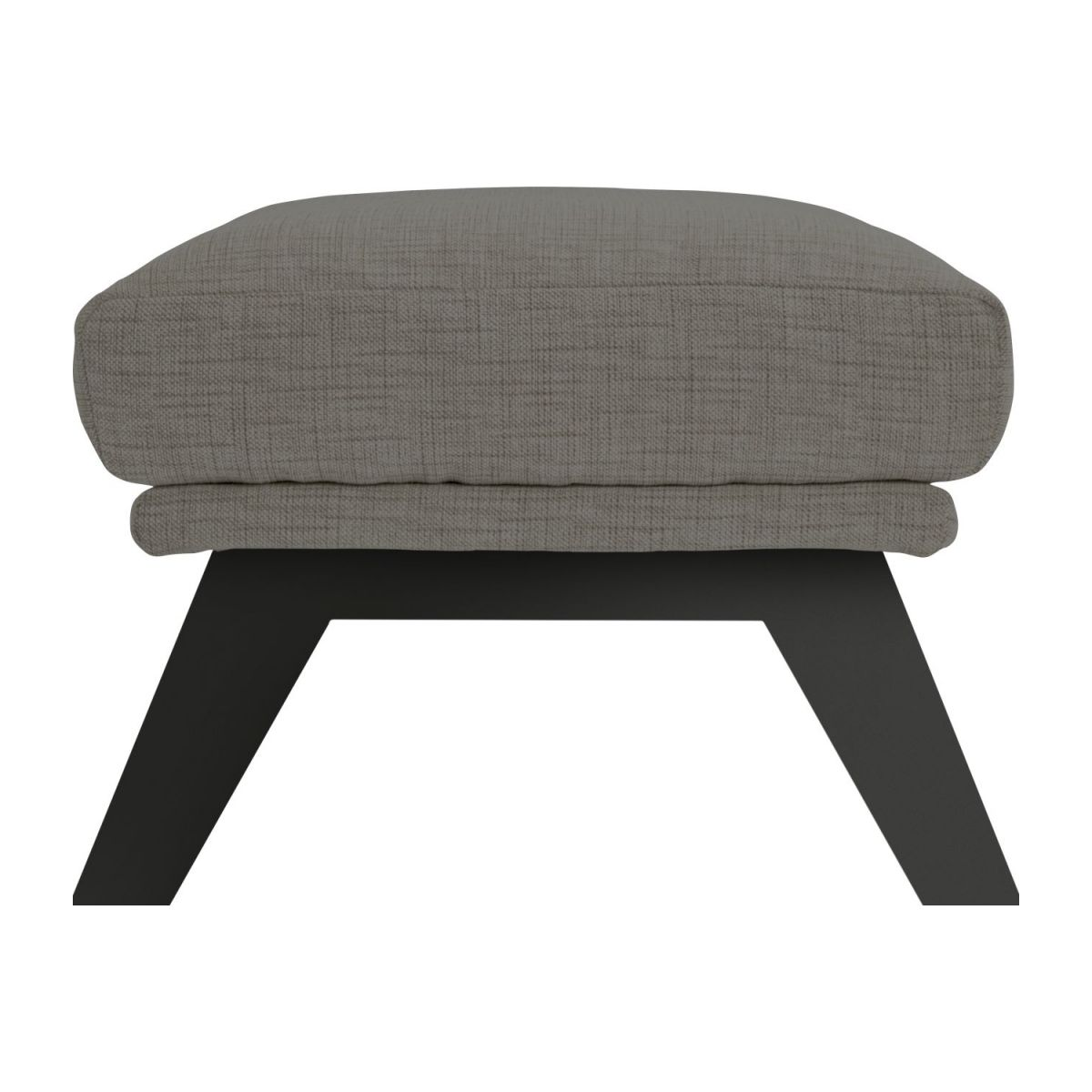 Footstool in Ancio fabric, river rock with dark legs n°5