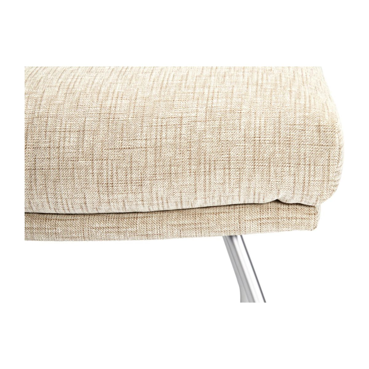 Footstool in Ancio fabric, nature with matt metal legs n°5