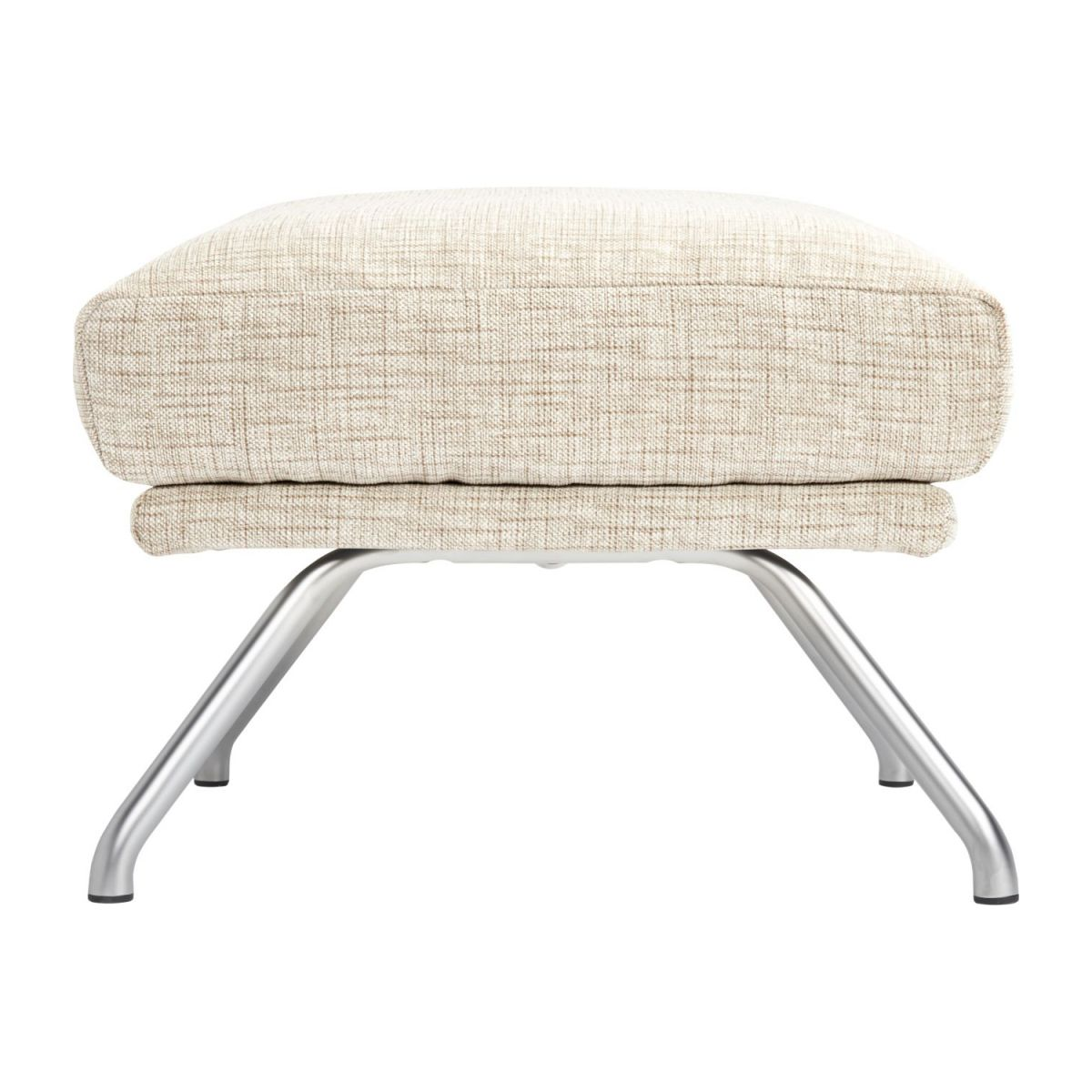 Footstool in Ancio fabric, nature with matt metal legs n°4