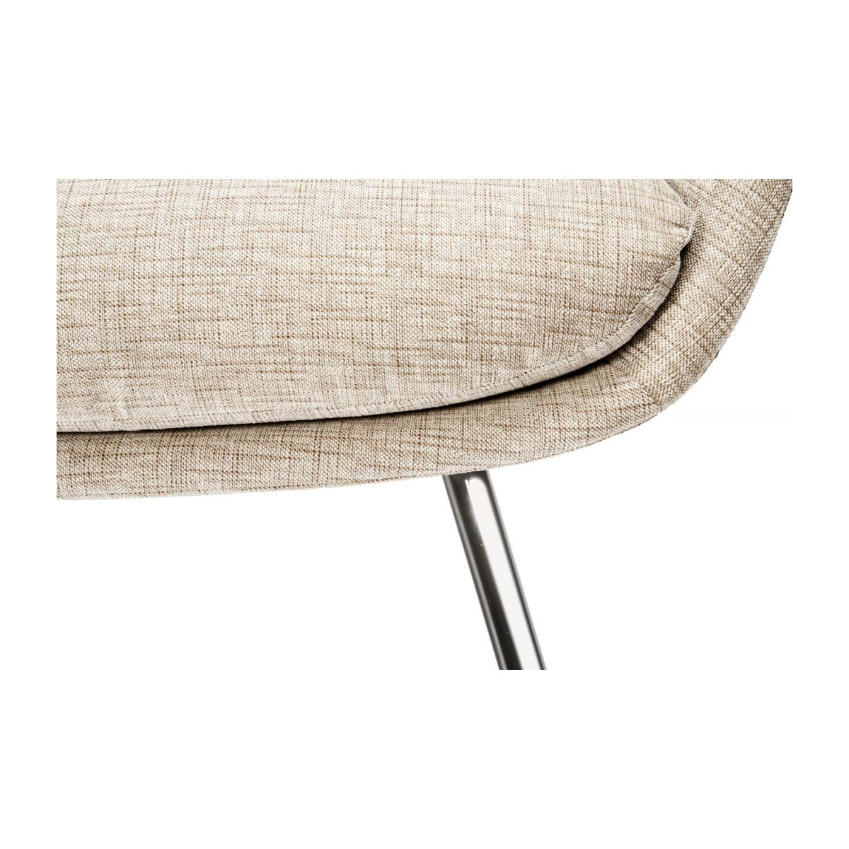 Armchair in Ancio fabric, nature with chromed metal legs n°8