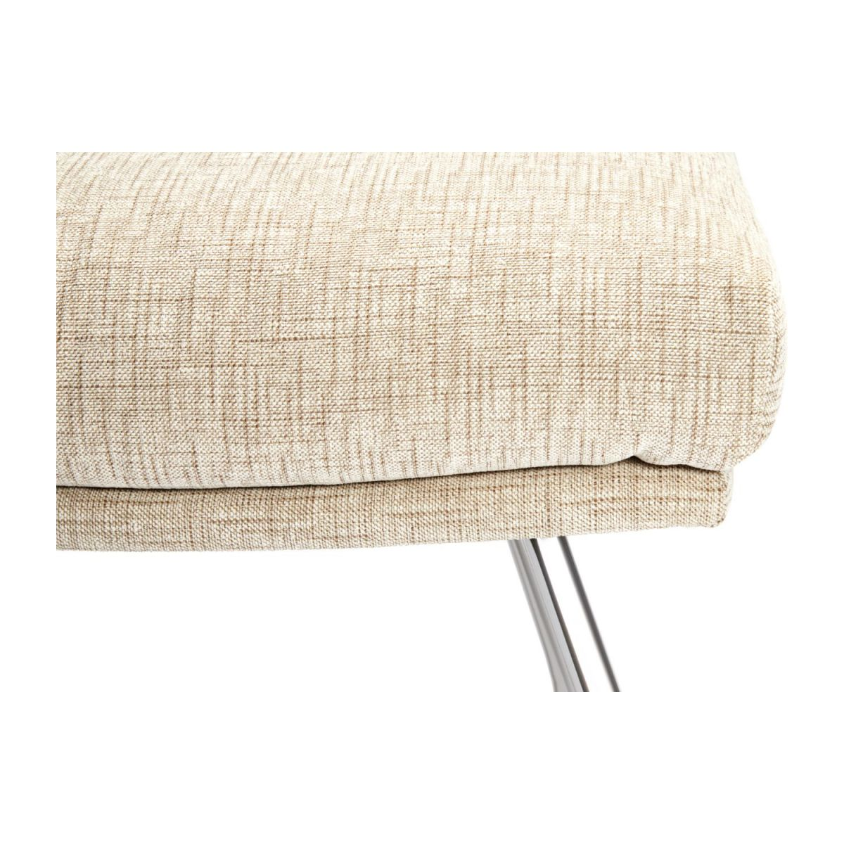 Footstool in Ancio fabric, nature with chromed metal legs n°5