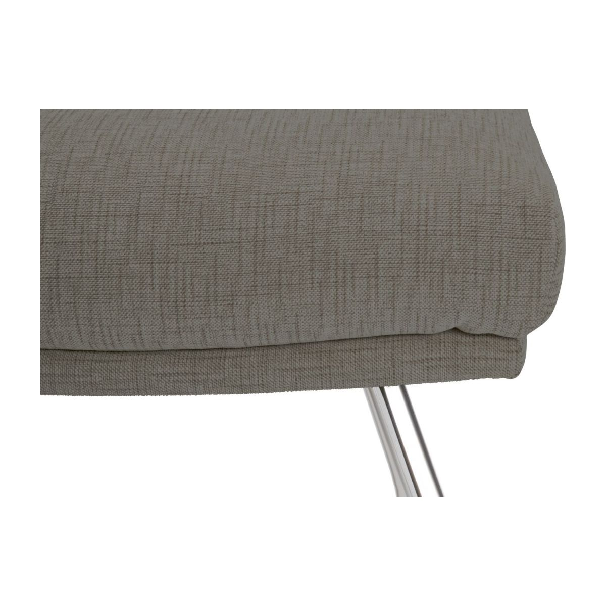 Footstool in Ancio fabric, river rock with chromed metal legs n°6