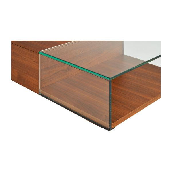 Coffee table in walnut tree n°9