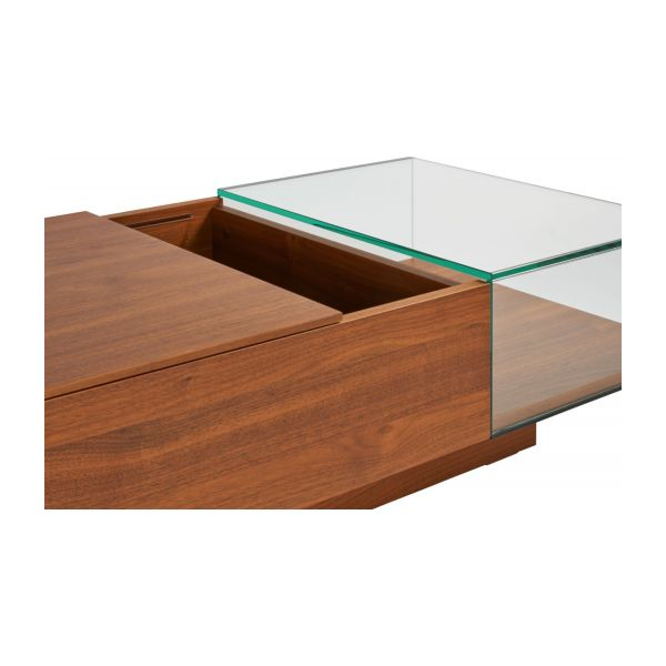 Coffee table in walnut tree n°7