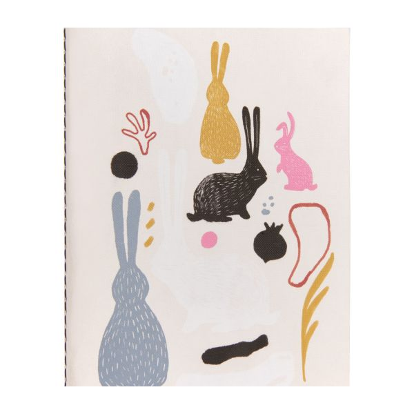 Notebook A6, bunny patterns n°3