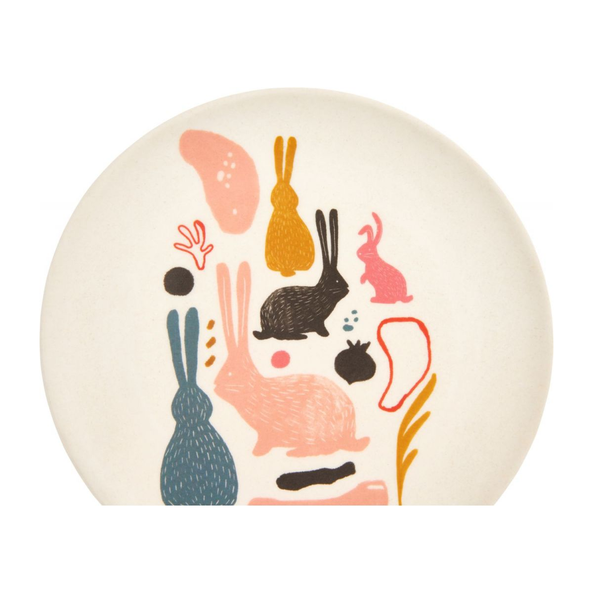 Dessert plate with bunny patterns n°3