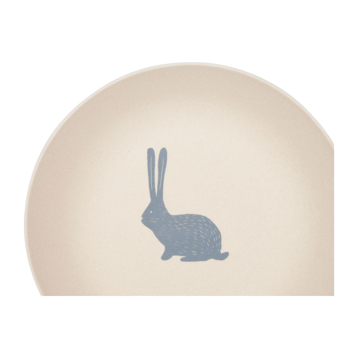 Soup plate with bunny patterns n°3