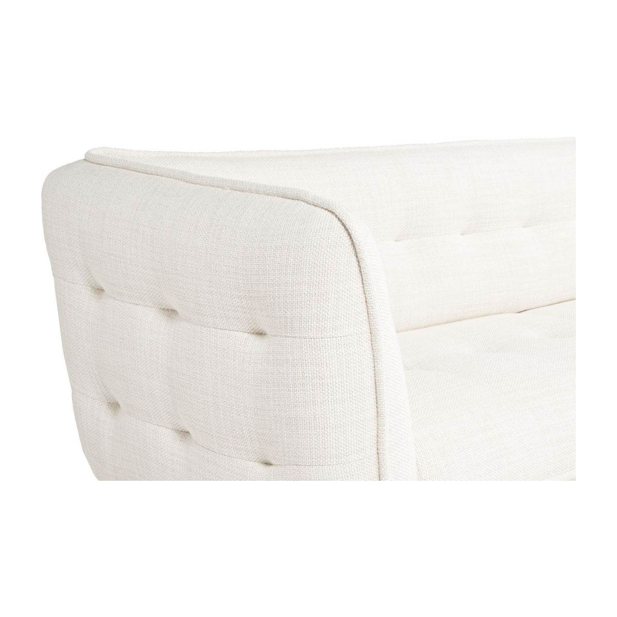 3 seater sofa in Fasoli fabric, snow white and oak legs n°5