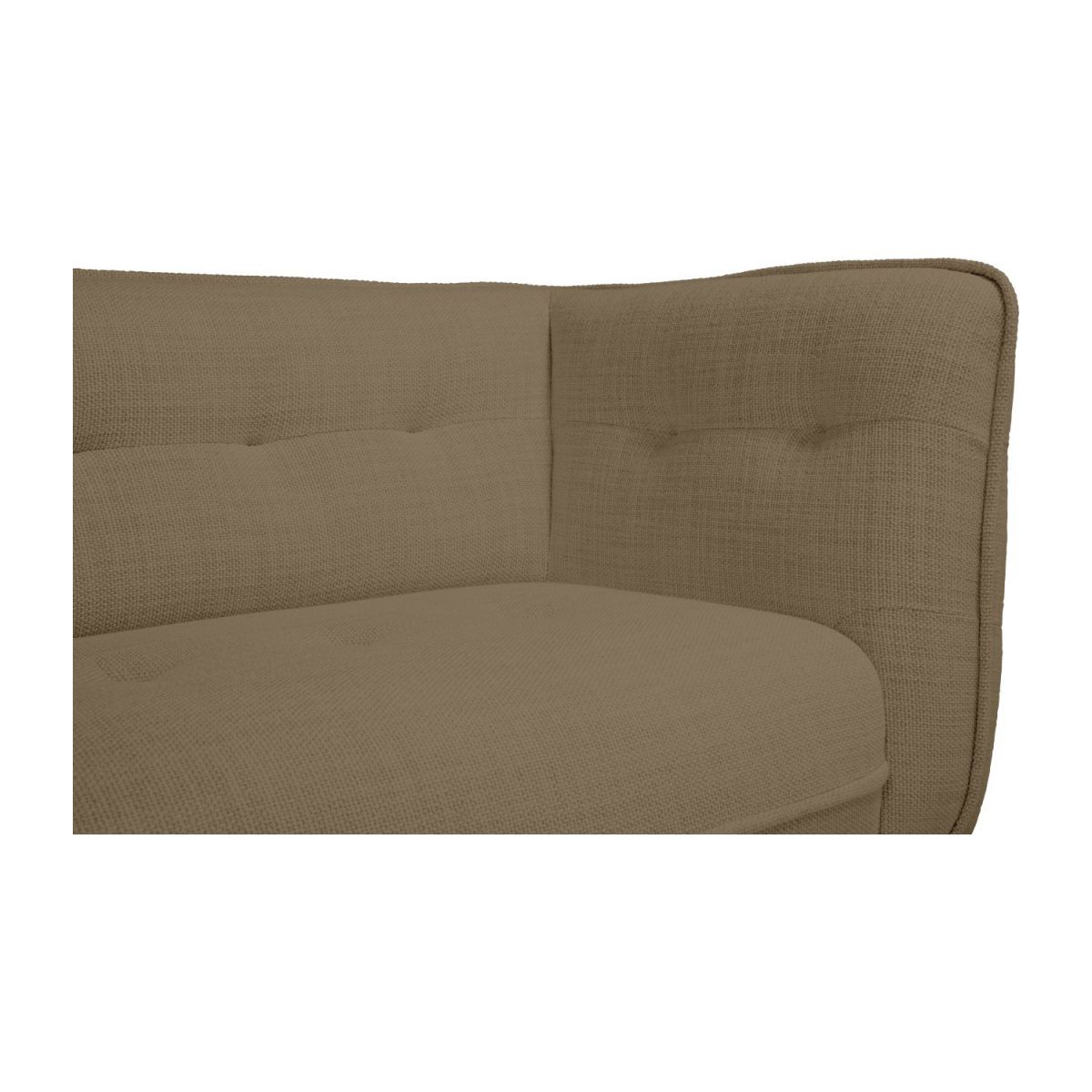 3 seater sofa in Fasoli fabric, jatoba brown and oak legs n°6
