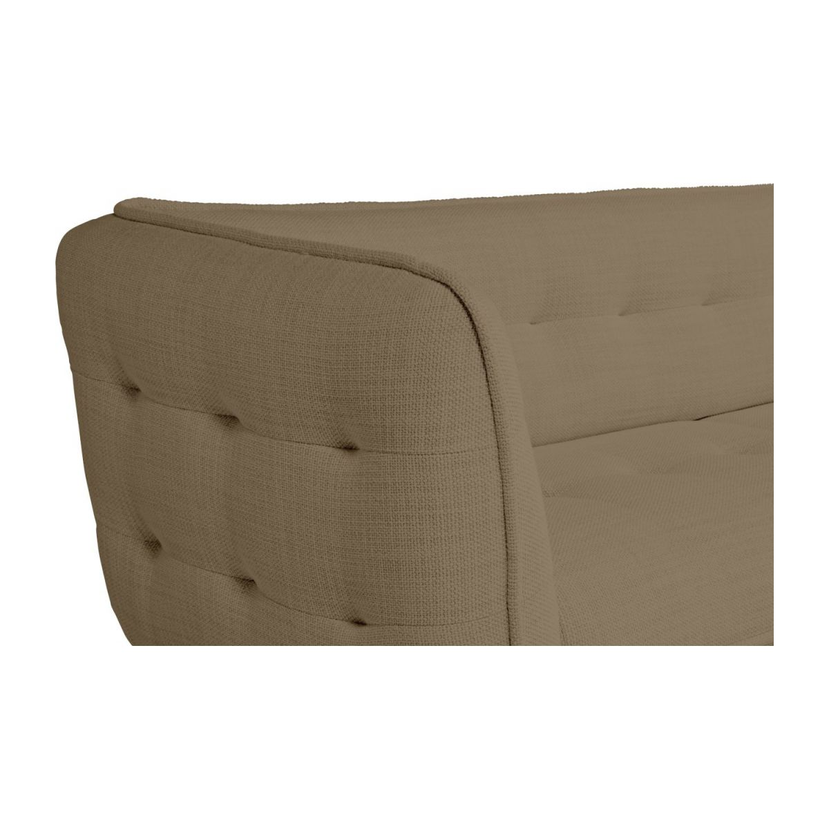 3 seater sofa in Fasoli fabric, jatoba brown and oak legs n°5