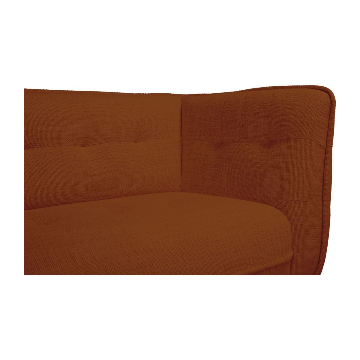 3 seater sofa in Fasoli fabric, warm red rock and oak legs n°6
