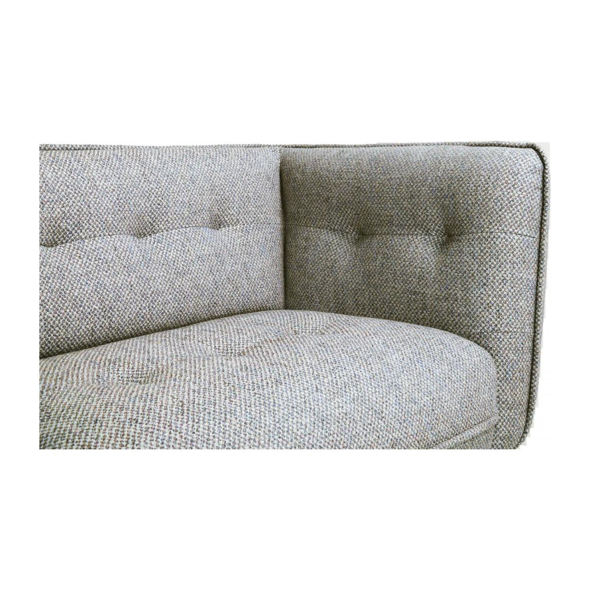 3 seater sofa in Bellagio fabric, organic green and dark legs n°7