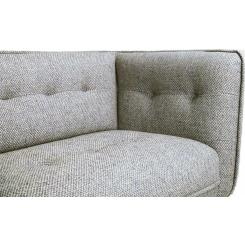 3 seater sofa in Bellagio fabric, organic green and dark legs
