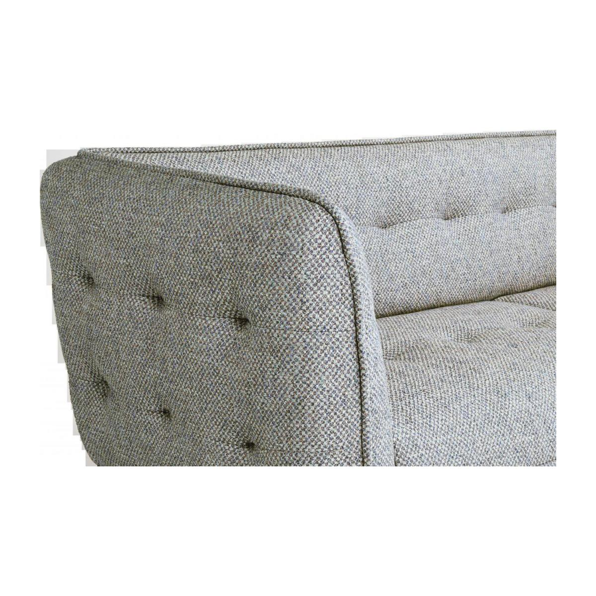3 seater sofa in Bellagio fabric, organic green and dark legs n°6