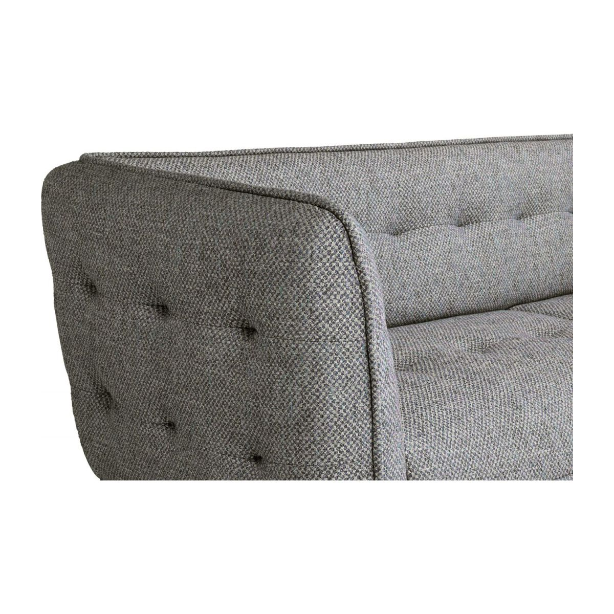 3 seater sofa in Bellagio fabric, night black and oak legs n°6