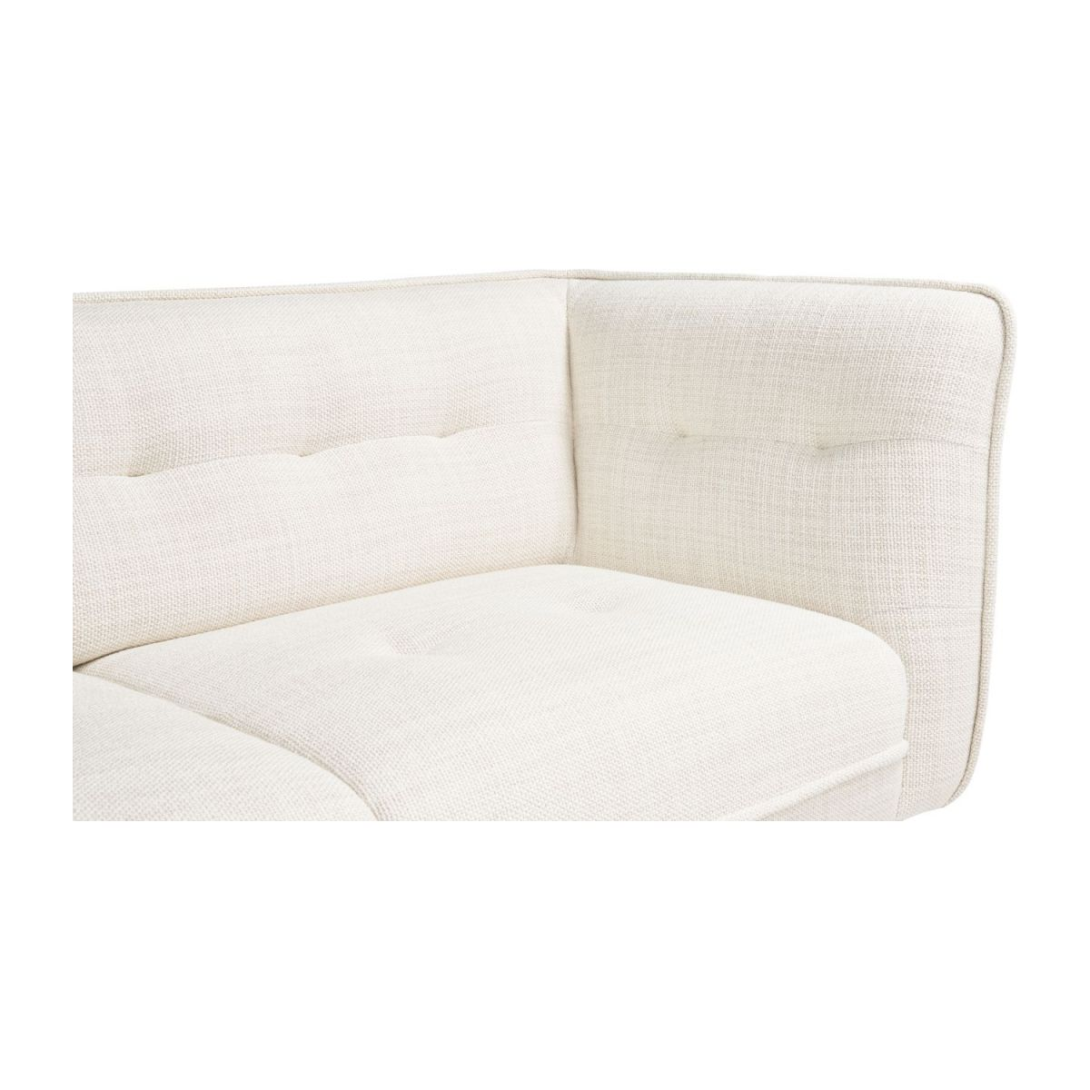 2 seater sofa in Fasoli fabric, snow white and dark legs n°6