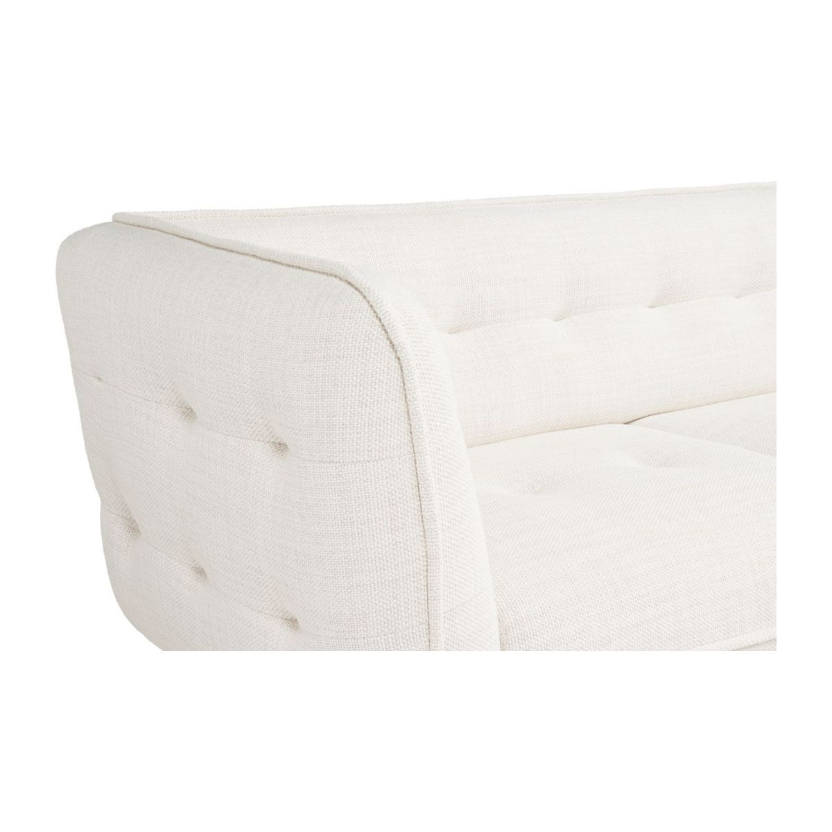 2 seater sofa in Fasoli fabric, snow white and dark legs n°5