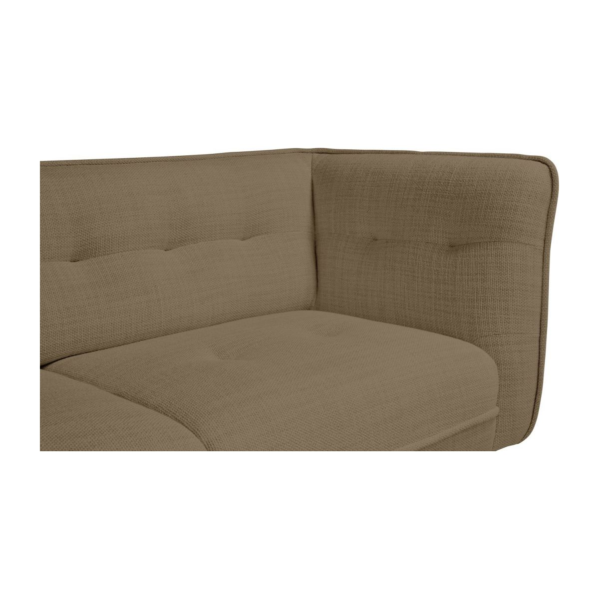 2 seater sofa in Fasoli fabric, jatoba brown and dark legs n°7