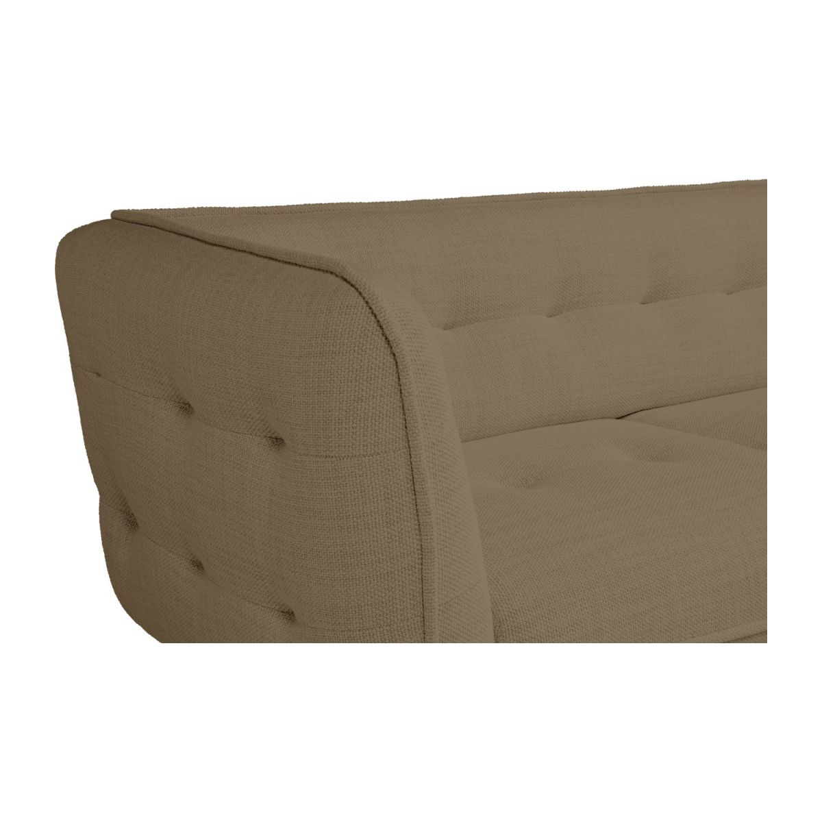 2 seater sofa in Fasoli fabric, jatoba brown and dark legs n°6