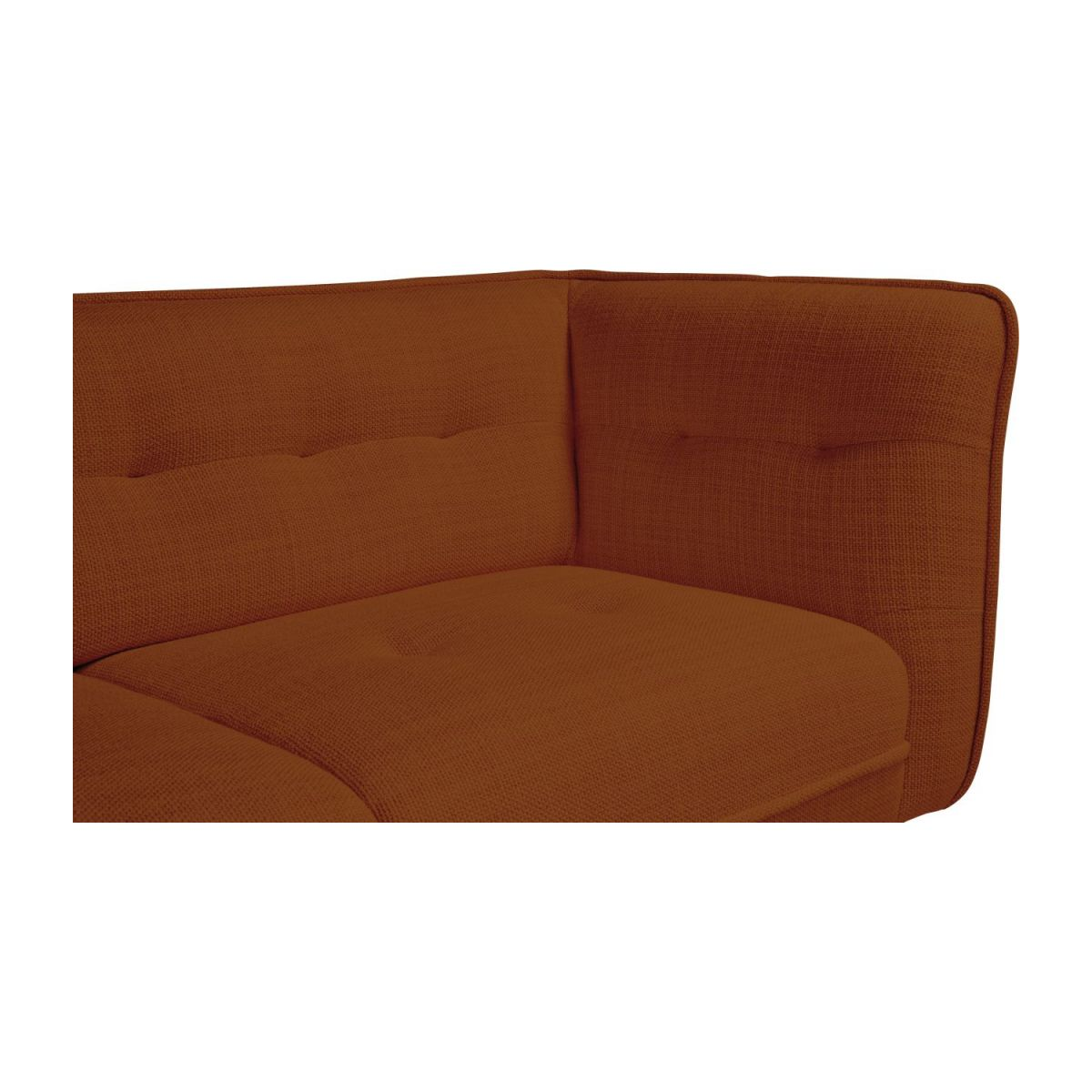 2 seater sofa in Fasoli fabric, warm red rock and dark legs n°5